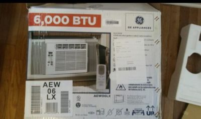 Excellent condition General Electric 6000 BTU air conditioner with remote.