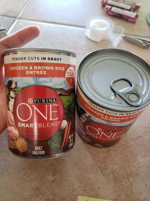 Dog food, 2 cans