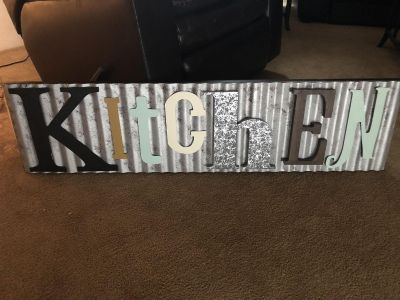 Large Kitchen Sign! Never Used!