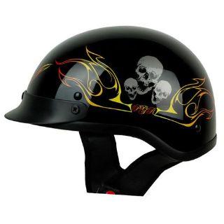 Purchase S M L XL XXL ~ PGR B08 WARRIOR BLACK ORANGE Motorcycle DOT Half Helmet Harley motorcycle in La Verne, California, US, for US $9.99