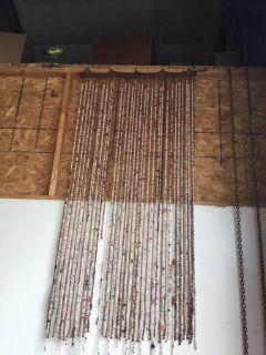 Bead, Shell, And Bamboo Door Curtain - Delivery Available