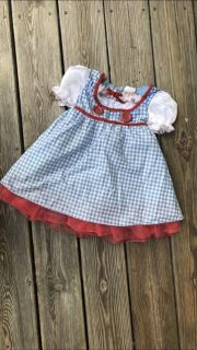 Dorothy wizard of oz costume girls 3t/4t