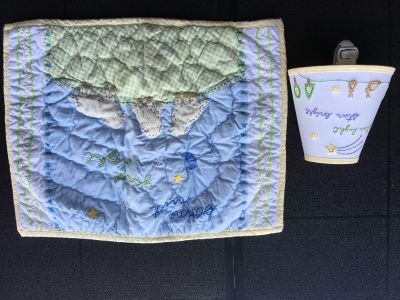 Pottery Barn kids pillow case and night light