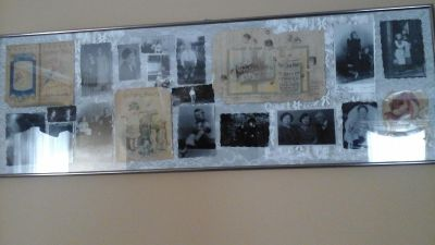 Antique Black And White Photos and100 year old Advertisement
