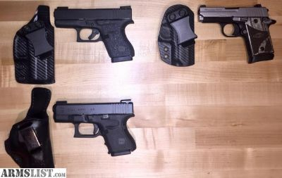 For Sale: Glock & Sig Sauer Carry Gun's