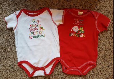 Christmas Onesies 6-12 Month