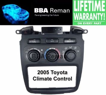Purchase 2005 Toyota Heater Climate Control Repair Service AC Heater Head 05 Highlander motorcycle in Taunton, Massachusetts, United States