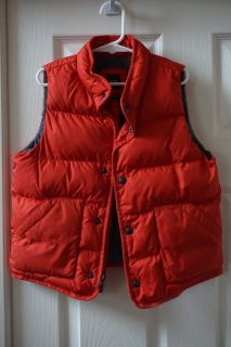 Boys GAP Red Puffer Vest Size 5 Years