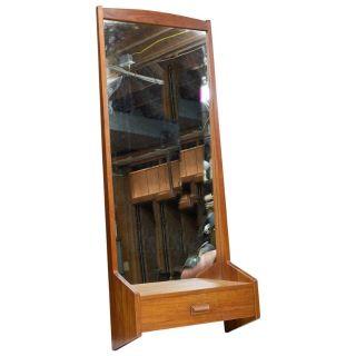 Danish Pier Mirror Vintage Mid-Century Cabinet