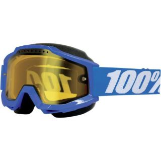 Sell 100% Accuri Snow Goggles Blue Blue/Yellow Lens 50203-002-02 motorcycle in Lee's Summit, Missouri, United States, for US $59.95