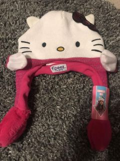 Brand new Hello Kitty hat-squeeze and hands wave