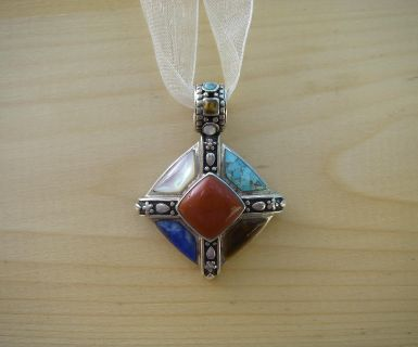 Sterling Silver and Natural Stone Pendant