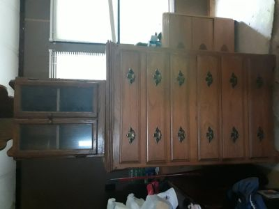 Dresser and a walnot chef