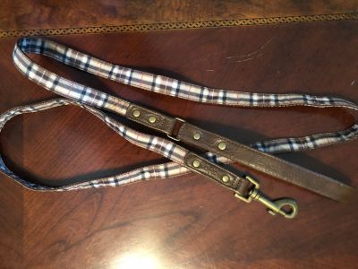 Leather and plaid leash