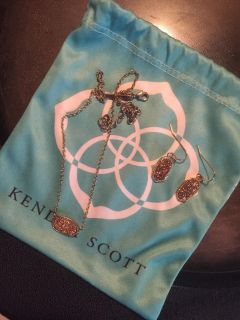 Kendra Scott Necklace & Earrings Good Condition Just Dont Wear Anymore. $45