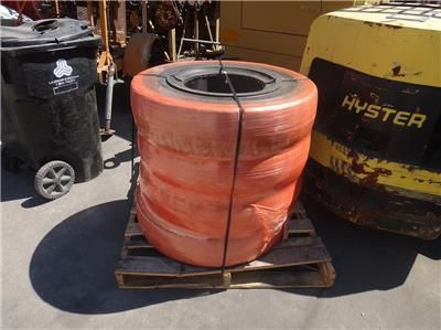 4 NEW MILLENNIUM SOLID PNEUMATIC FORKLIFT TIRE 8.25X15