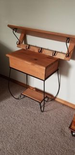 RUSTIC SIDE TABLE AND SHELF SET