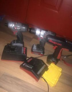 Drills, drill bits, chargers and bag for sale