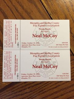FREE 2 Neal McCoy concert tickets for tonight 8 PM at The Agricenter Show Place Arena