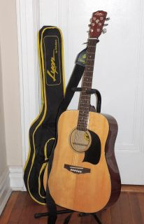 Lyon by Washburn LG2 acoustic guitar with bag + Strap