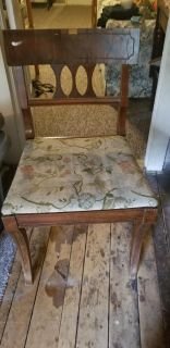 Solid wooden vintage chair marking present project unfinished