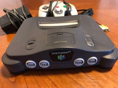 Nintendo 64 Console + Controller and Wires