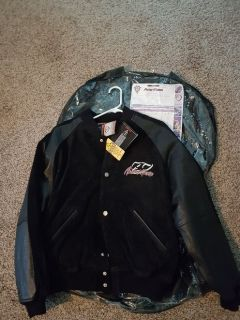 Leather and suede Arlen Ness motorcycle jacket