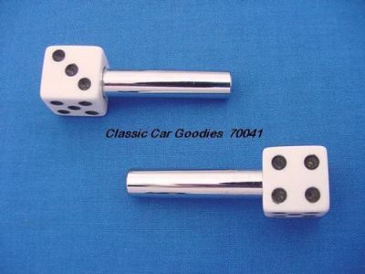 "Sell Door Lock Knobs ""White Dice"" (2) New! motorcycle in Aurora, Colorado, United States, for US $14.99"