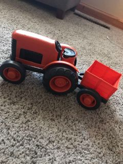 Green Toys tractor and trailer