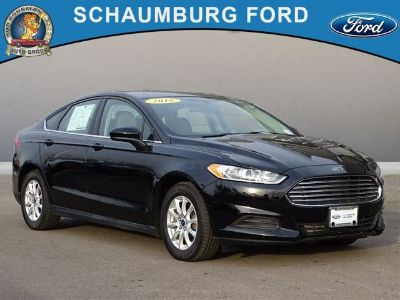 2016 Ford Fusion S (Black)