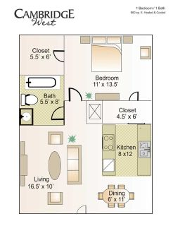 $575, 1br, 1BED1BATH Apartment