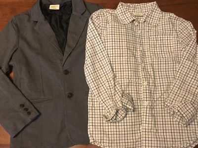 Crazy 8s blazer and button down worn once size Large