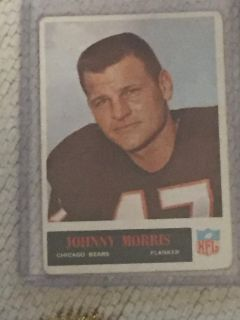 Lot of 3 1960s Chicago Bears Foortball Cards