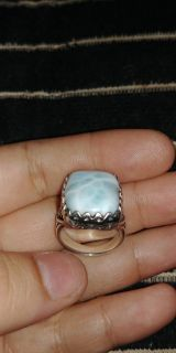 Beautiful blue sterling silver ring. Size 7. Nice detail