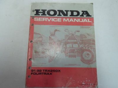 Sell 1991 1992 Honda TRX250X FOURTRAX Service Shop Repair Manual WORN STAINED OEM*** motorcycle in Sterling Heights, Michigan, United States, for US $39.99