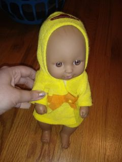 Baby doll in ducky robe