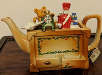 Vintage Paul Cardew Miniature Toy Box Teapot
