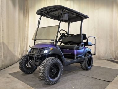 2014 Yamaha Gas EFI Golf Cart DELUXE STREET READY, Black Purple Fade