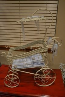 Miniature Display Baby Carriage Prop Shower Card Holder or Doll