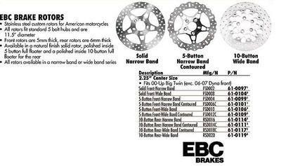 Purchase EBC Brake Rotors P/N 61-0114 motorcycle in Denton, Texas, US, for US $199.95