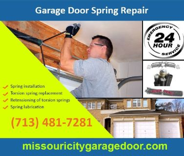 Commercial Garage Door Spring Repair($25.95) | Missouri City Houston, 77459 TX