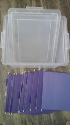 """Old School"" Plastic Stackable File Box. .FREE"