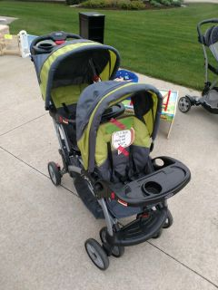 Stand and Sit Double Stroller - EUC