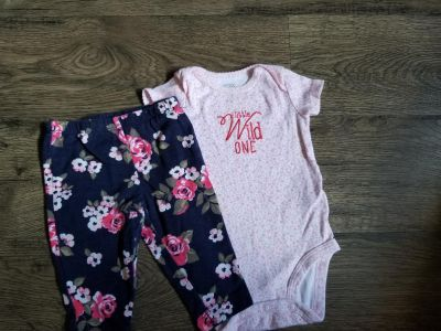 3 months. Lots of baby clothes available
