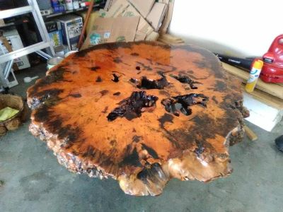 Old Cypress table or coffee table