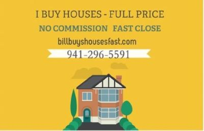 Bill Buys Sarasota FL Houses Fast! - Full Price - No Commission!