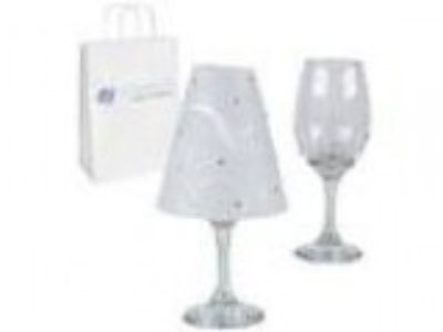 Sparkles Make It Special Wine Glass Lamp Shades with Rhinesto