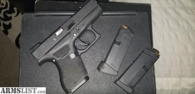 For Sale: Glock 42 .380 single stack night sites/extras