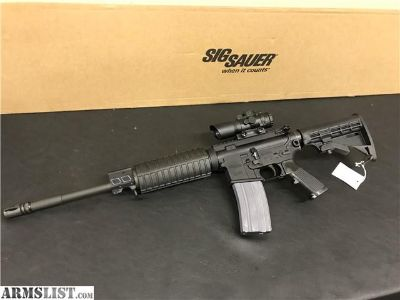 For Sale: Sig Sauer M400 556 AR15 w/ CP1 scope $.01 START