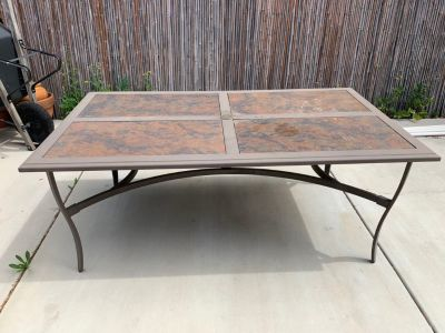 Hampton Bay patio table with 6 chairs